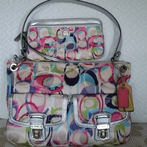 Coach matching purse and wallet